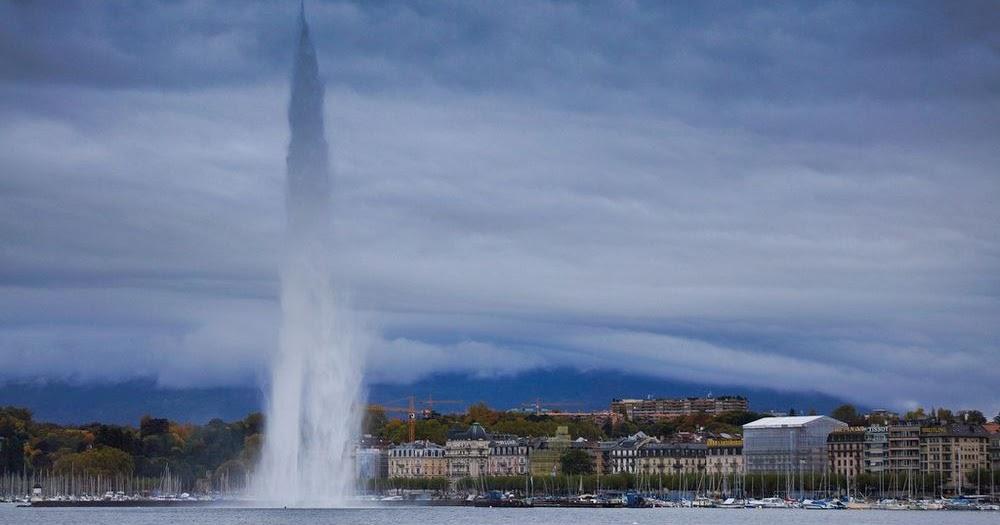 Jet D Eau The Lake Geneva Fountain Amusing Planet