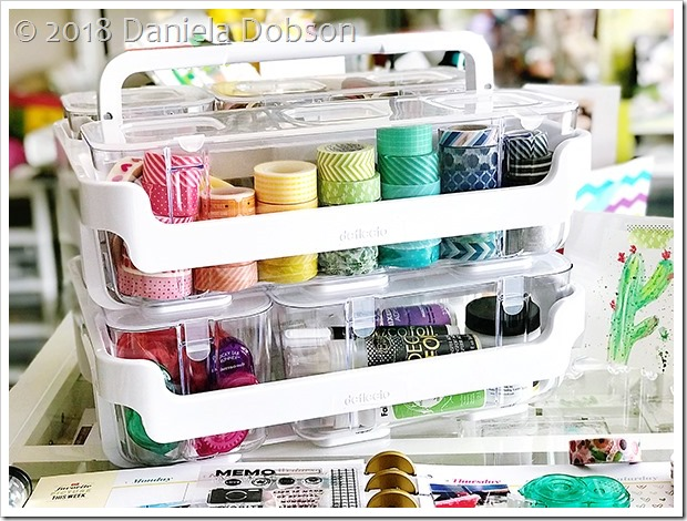 Caddy organizer washi 3 by Daniela Dobson