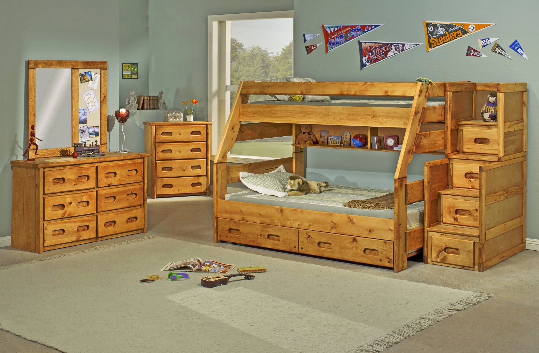 Unique Solid Pine Bunk Beds and Bedroom Sets by Rustic Classics The solid pine bunk