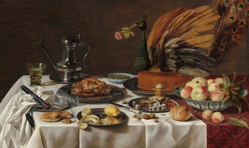 Pieter Claesz - Still Life with a Turkey Pie.