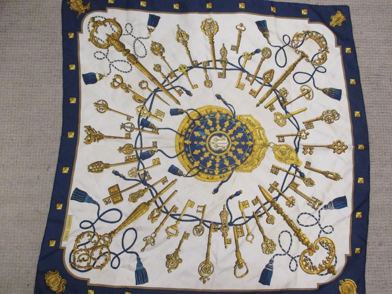 Hermes Key and Tassel Scarf