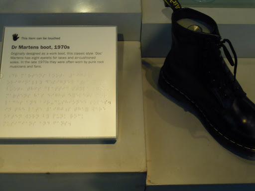 Dr. Martens' boot, Museum of London. From Best Museums in London and Beyond