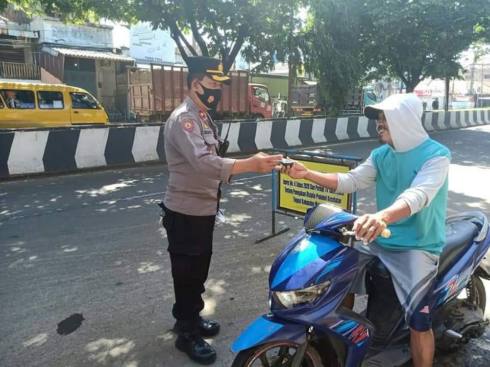 Polres Majalengka Polda Jabar Lakukan Ops Yustisi Sasar Warga Tak Gunakan Masker