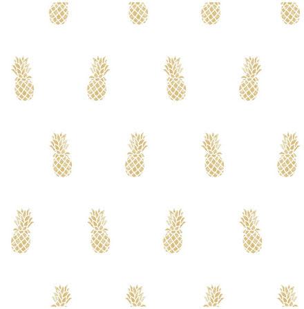 Christiana Masi Hashtag 11008 Tapet med små ananasfrukter, Beige/Vit