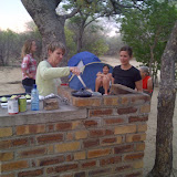 Cooking supper at the Khama Rhino Sanctuary