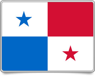 Panamanian framed flag icons with box shadow