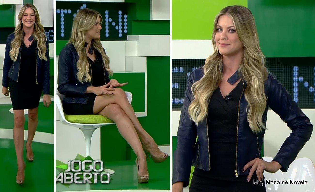 moda do programa Jogo Aberto - look da Renata Fan dia 8 de maio