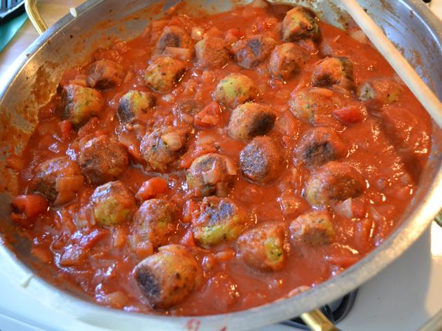 sauced balls