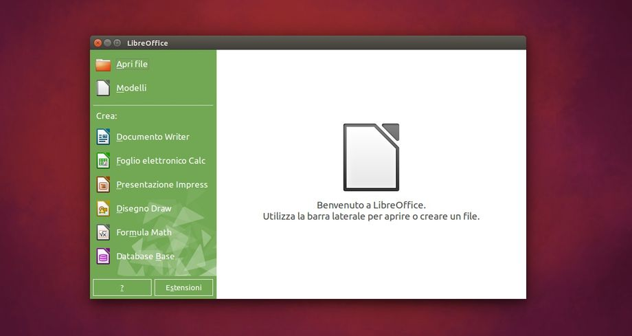 LibreOffice in Ubuntu