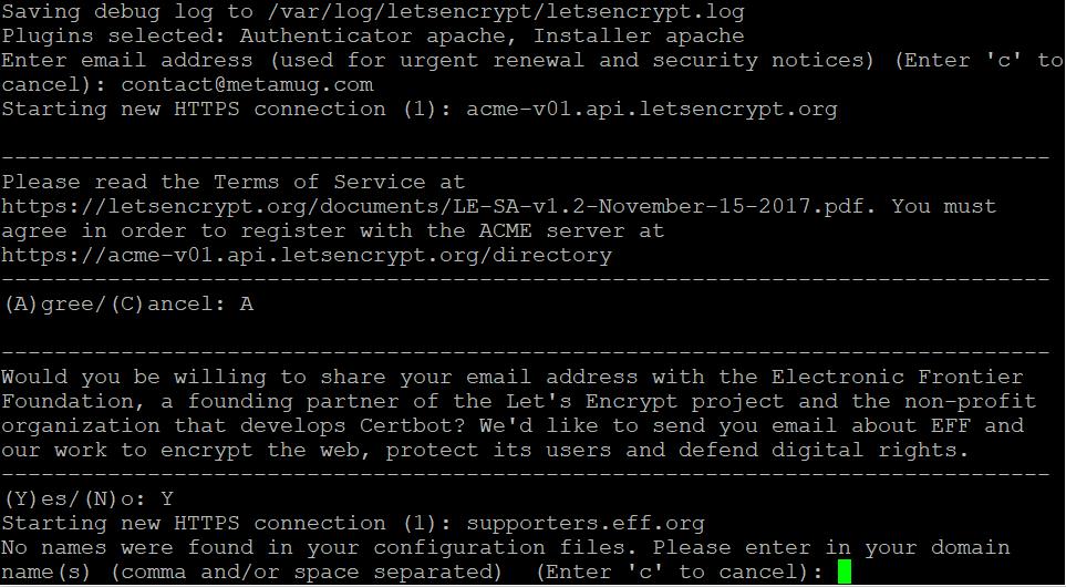 LetsEncrypt: Tomcat API Webapp with SSL on Apache