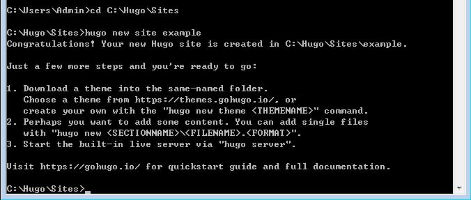 hugo github 建立網站