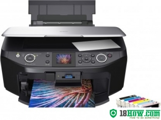 How to reset flashing lights for Epson RX585 printer