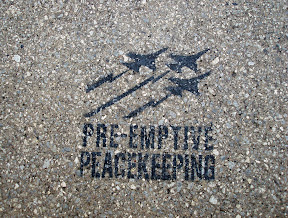 Sidewalk stencil, Toronto, 2007