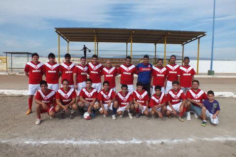 Equipo Huracán  del torneo de primera fuerza de la Liga Municipal de Futbol Soccer