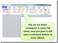 This will help to access easily the buttons of the ribbons of the Tab menu