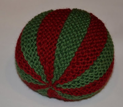 Knit Balls Red and Green