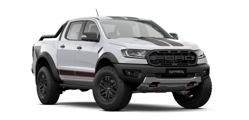 รถยนต์ Ford Ranger Raptor X สีขาว Arctic White