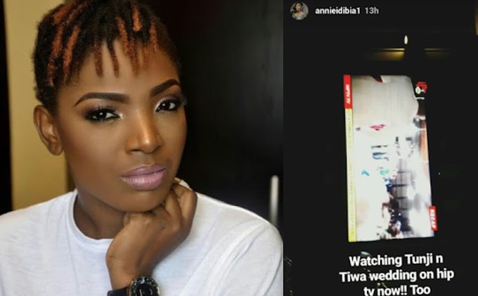 Annie Idibia left in tears after watching a recap of Tiwa & Teebillz's white wedding