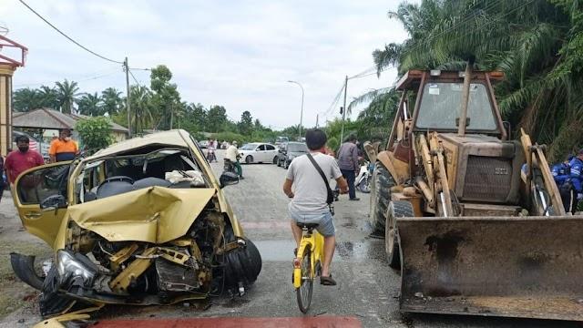 Remaja maut dalam kemalangan dengan jentolak, dipercayai kecuaian dan tidak mempunyai lesen memandu