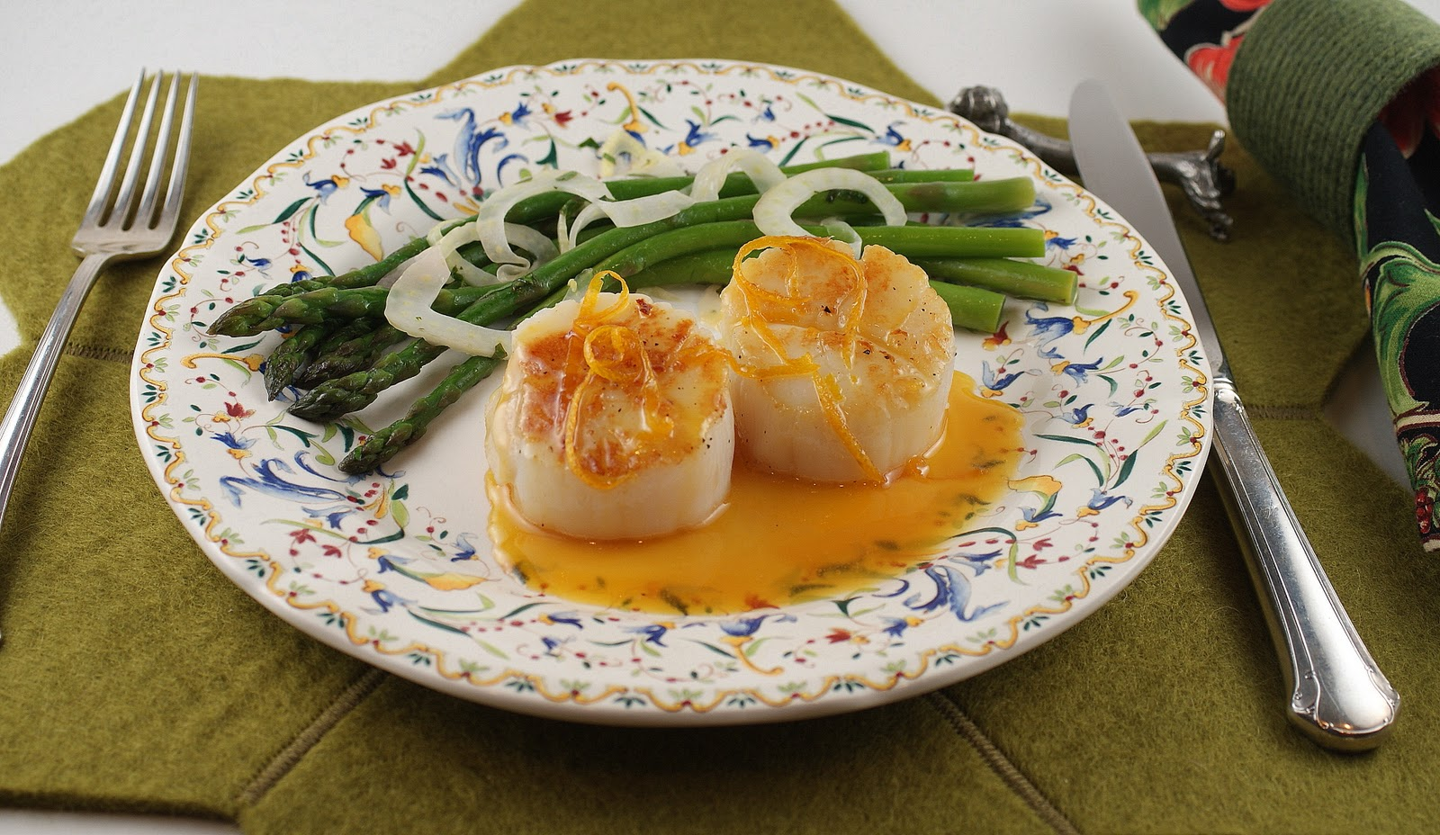 Sea Scallops With Caramel-Orange Sauce For French Fridays With Dorie