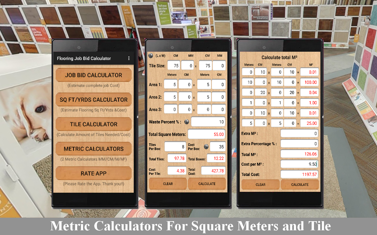 Flooring job bid calculator android apps on google play flooring job bid calculator screenshot dailygadgetfo Gallery