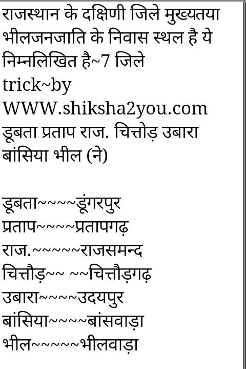 Rajasthan Gk Tricks Pdf