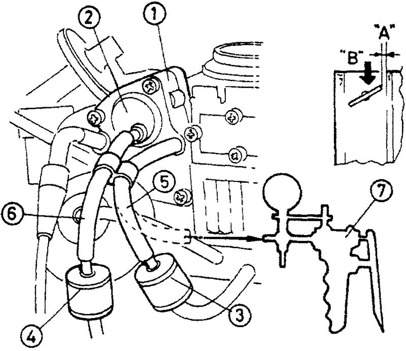 Система открытия автоматической воздушной заслонки - первое положение в двухпозиционной системе