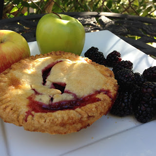 Apple Blackberry Pie with All Butter Crust