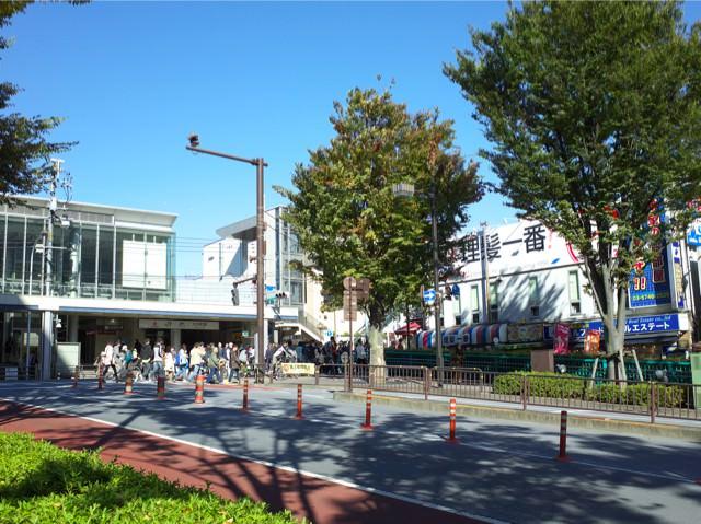 大井町駅西口の前の通り