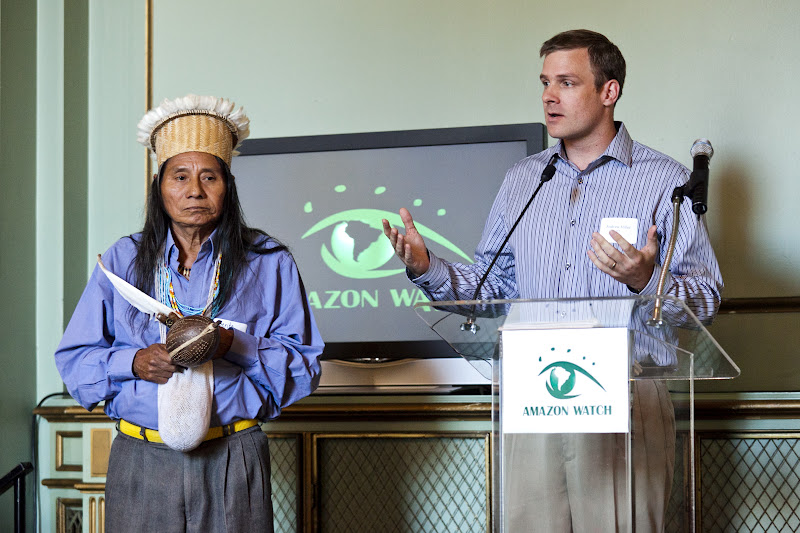 Andrew Miller of Amazon Watch introduces a blessing by U'wa elder and spiritual leader Roberto