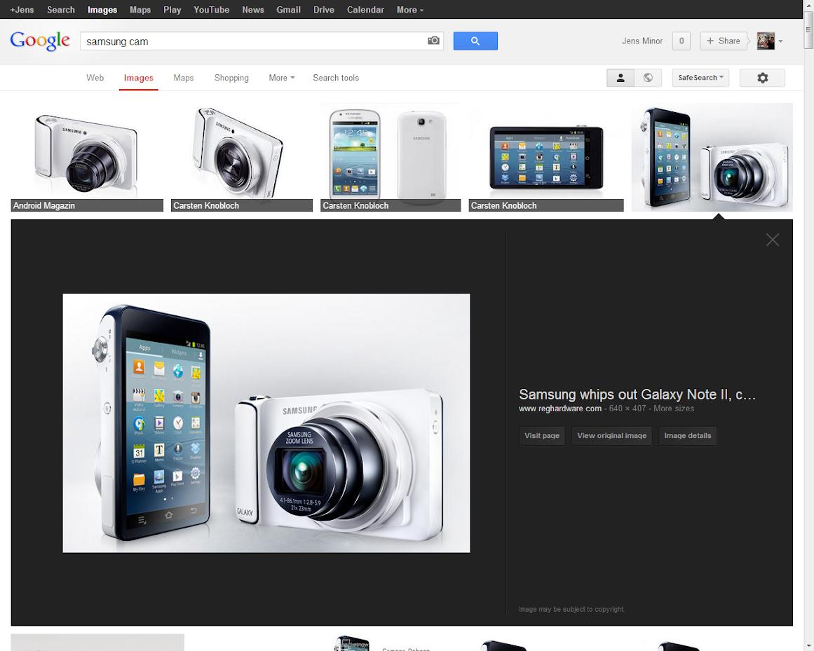 Google Bildersuche neues Design