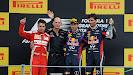 2013 Italian F1 GP podium: 1. Vettel 2. Alonso 3. Webber