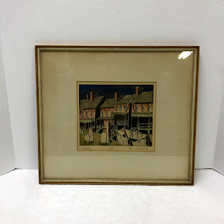 Gertrude H. Balch Signed Woodblock Print