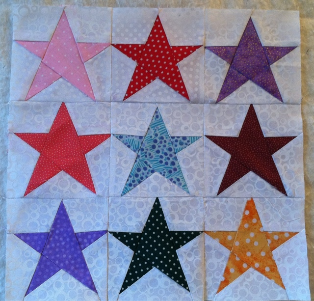 Joyce's Crafts 60 Point Star Bitty Blocks Adorable 5 Point Star Quilt Pattern