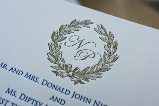 Letterpress Wedding Invitations for Nicole and Paul