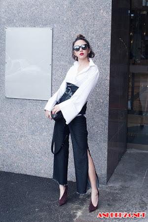 Tóc Tiên thử đồ của NTK Hàn Quốc trước thềm Seoul Fashion Week