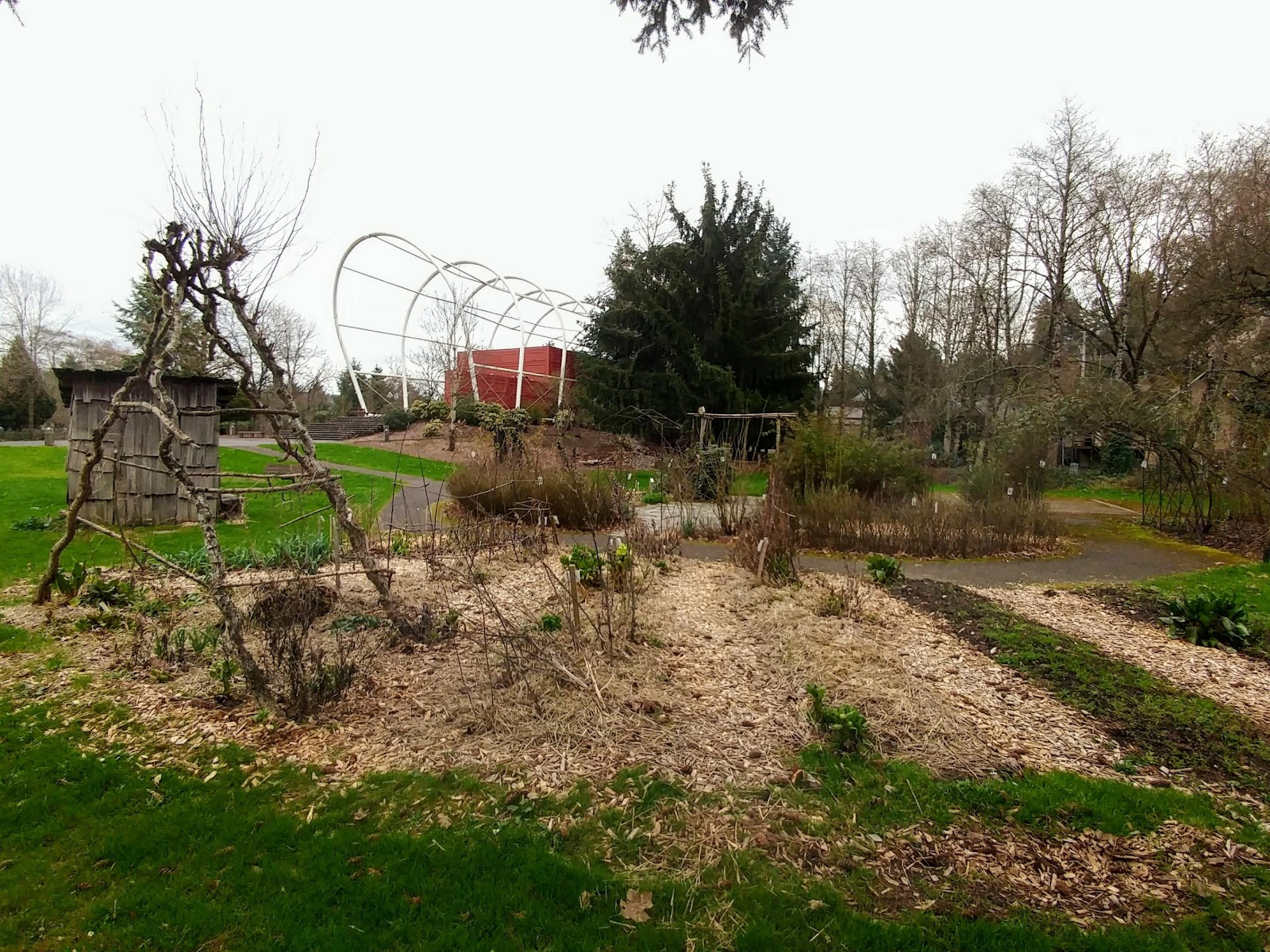 End of the Oregon Trail Pioneer Gardens: Shhh, The Garden is Sleeping.