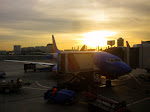 Breakfast at sunrise with the crew in LAX