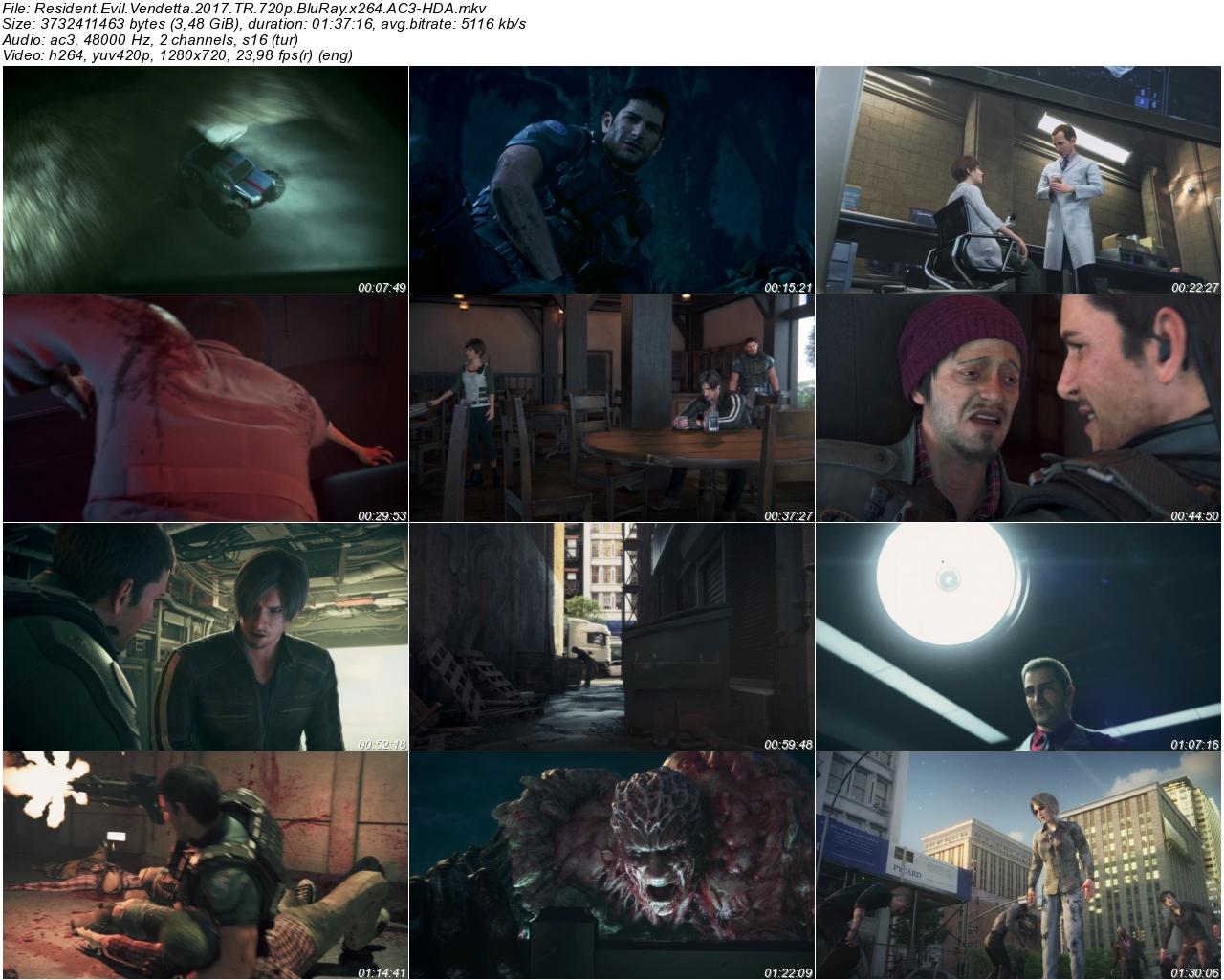 Resident Evil Vendetta 2017 - 1080p 720p 480p - Türkçe Dublaj Tek Link indir