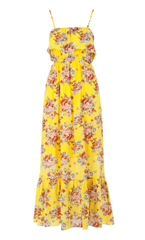 Louche Anais Yellow Floral Maxi Dress at Joy