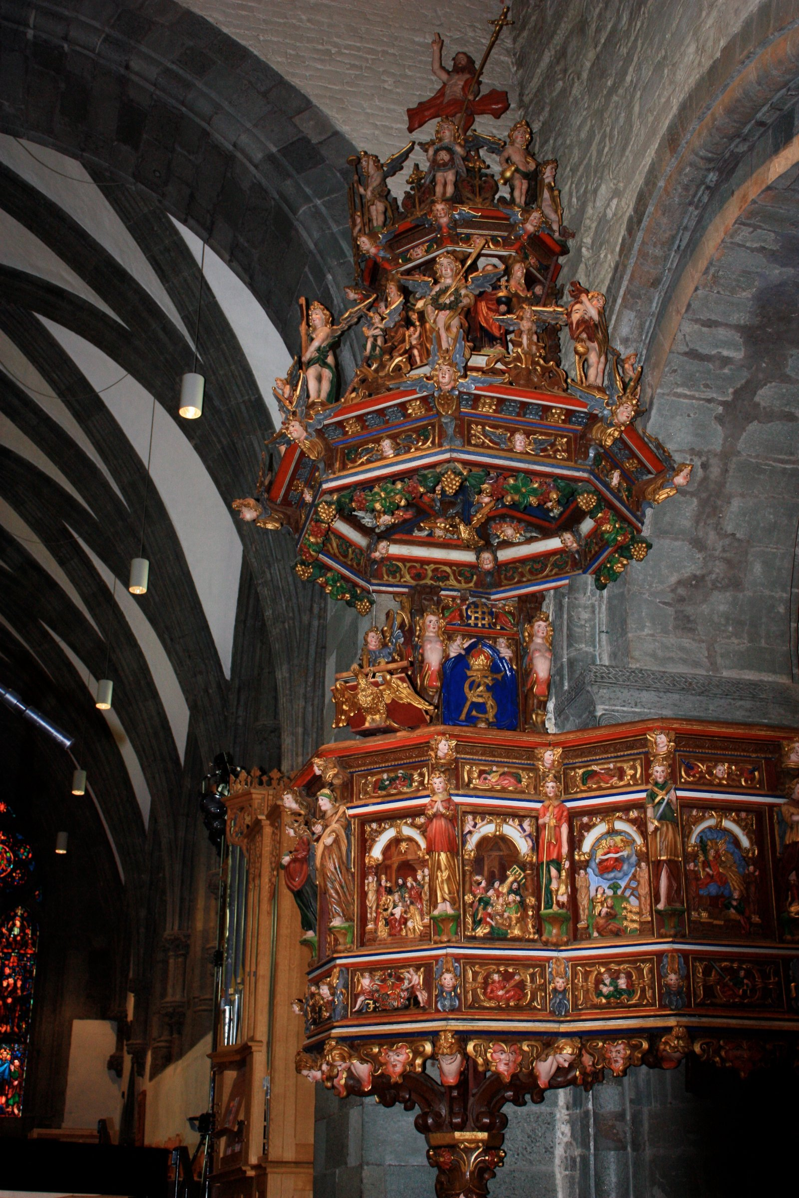 Pulpit of Stavanger Cathedral, Stavanger, Norway