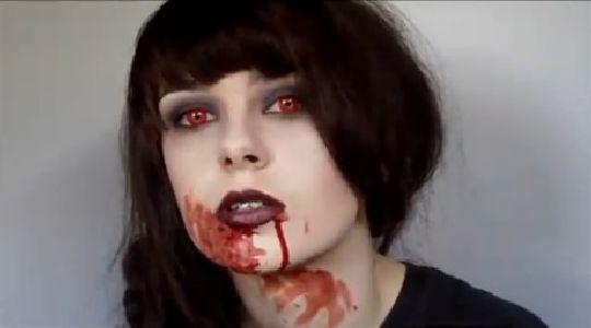 Maquillaje de halloween:Mujer Vampira