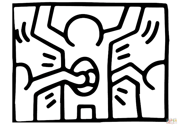 Click The Pop Shop  By Keith Haring Coloring Pages To View Printable  Version Or Color It Online Patible With Ipad And Android Tablets