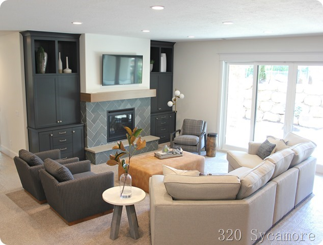basement family room built ins