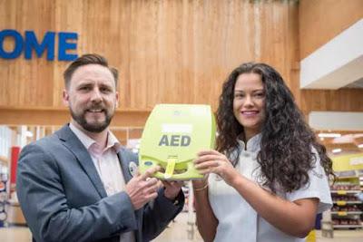 Supermarket installs defibrillator