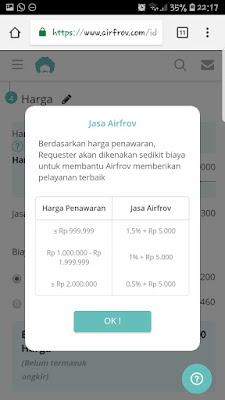 pengalaman menggunakan airfrov indonesia