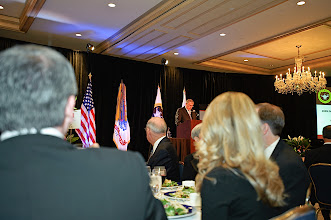 Photo: CGSC Foundation CEO Col. (Ret.) Bob Ulin opens the evening with a few remarks.