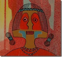 Original Painting entitled The Red Man in Journey Native American Art Native American Paintings Painting Santa Clara Pueblo Helen Hardin Tsa-Sah-Wee-Eh Little Standing Spruce