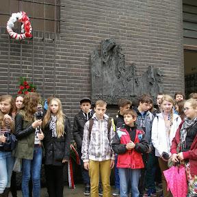 Delegacja Gimnazjum na pogrzebie Sławomira Mrożka