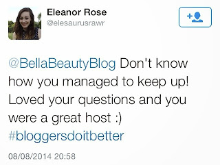 #bloggersdoitbetter chat
